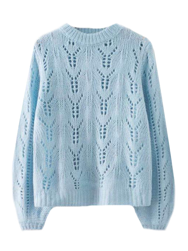 'Felberta' Openwork Knit Sweater (3 Colors)
