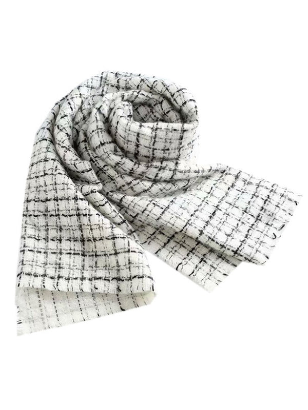 'Floris' Tweed Pattern Lightweight Scarf