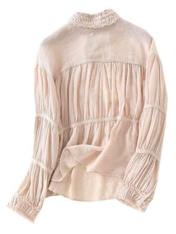 'Ravin' Ruched High Neck Blouse