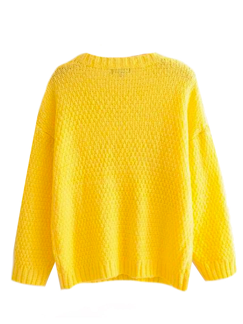 'Patty' Mix Stitch Knitted Sweater