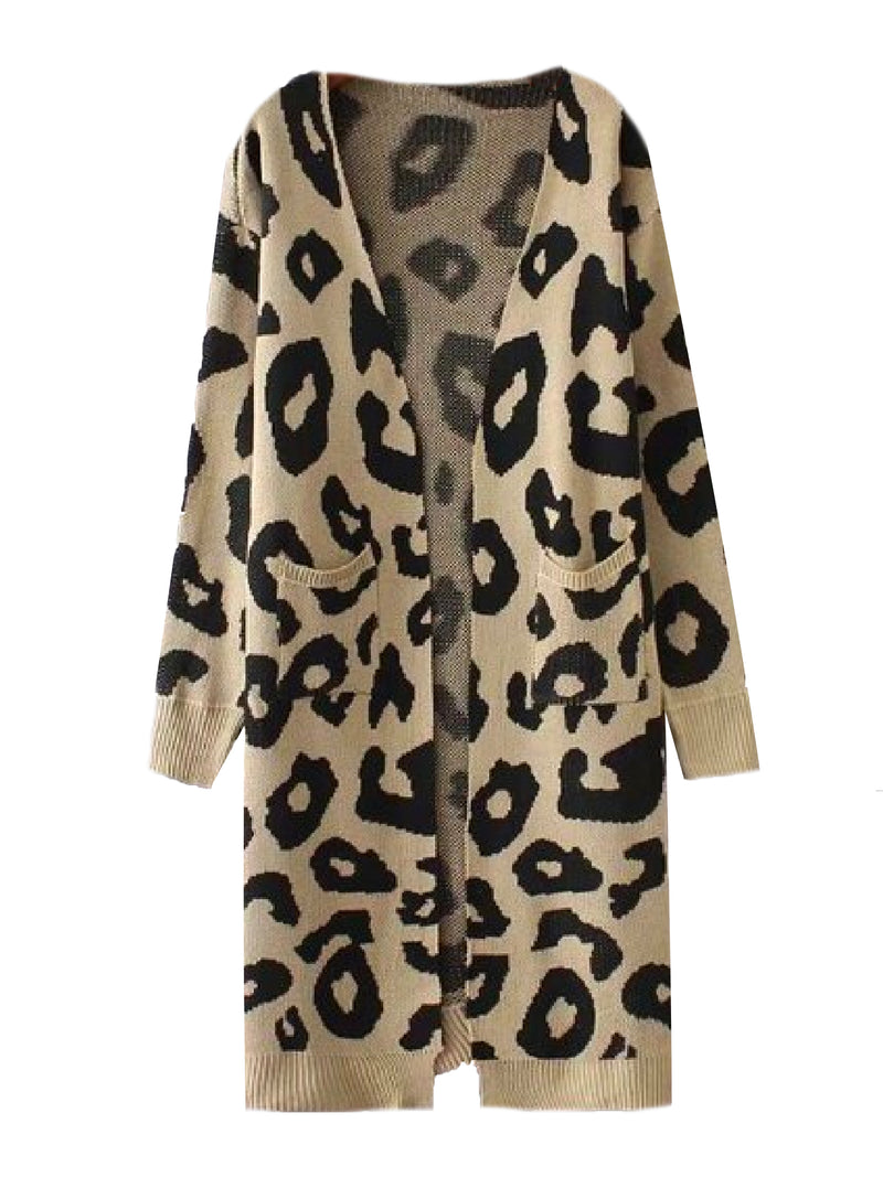 'Reilly' Leopard Print Open Cardigan (4 Colors)