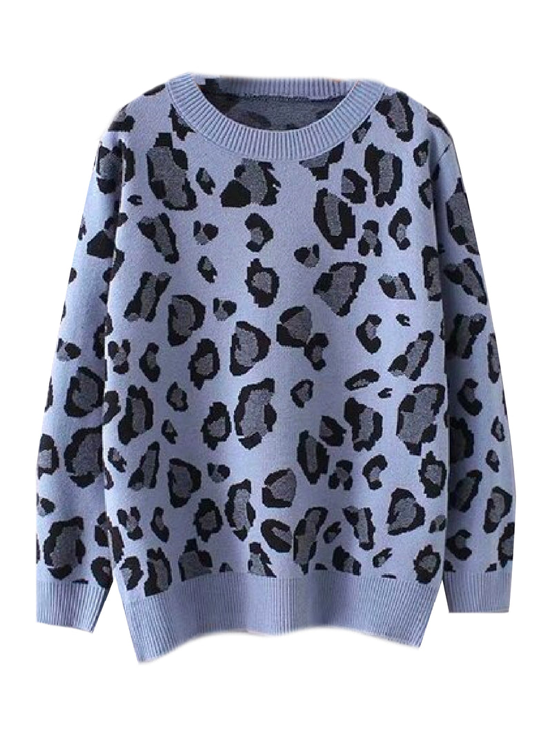 'Robin' Leopard Print Crewneck Sweater (3 Colors)