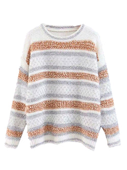 'Gertie' Metallic Tread Color Block Sweater (3 Colors)