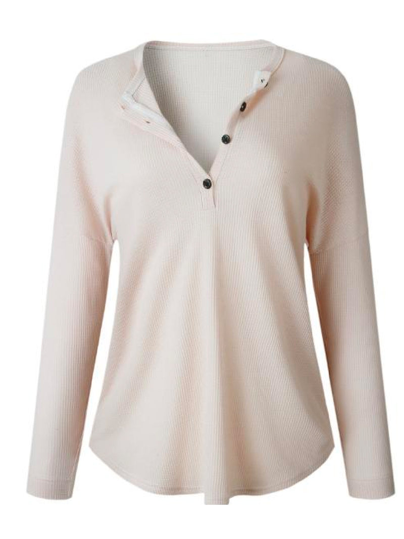 'Despina' Henley Top (5 Colors)