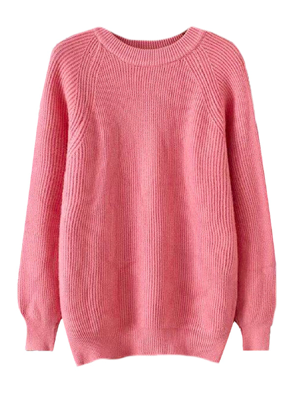 'Calypso' Ribbed Knit Long Sweater (4 Colors)