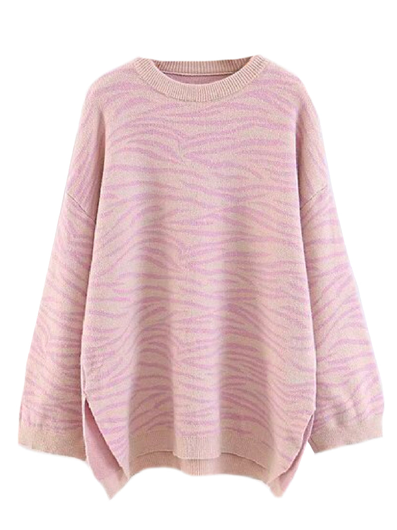 'Hera' Zebra Print Knitted Sweater (2 Colors)
