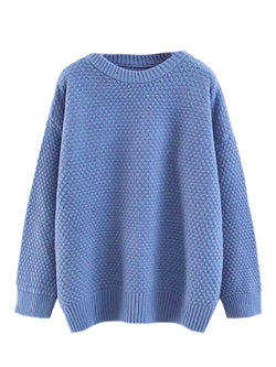 'Persephone' Bubble Stitch Knitted Sweater (3 Colors)