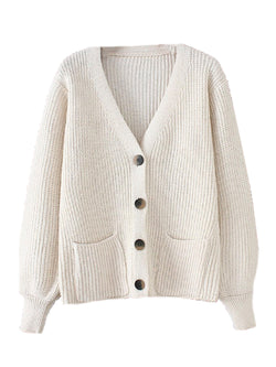 'Nieve' Knitted Button Down Cardigan (4 Colors)