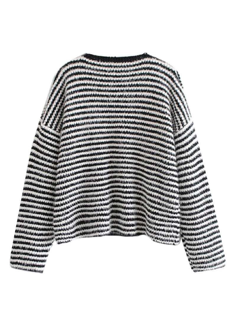 'Latifa' Striped Sweater
