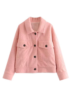 'Dottie' Pink Fleece Jacket