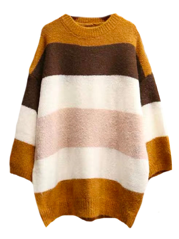 'Emeri' Color Block Oversized Sweater (2 Colors)