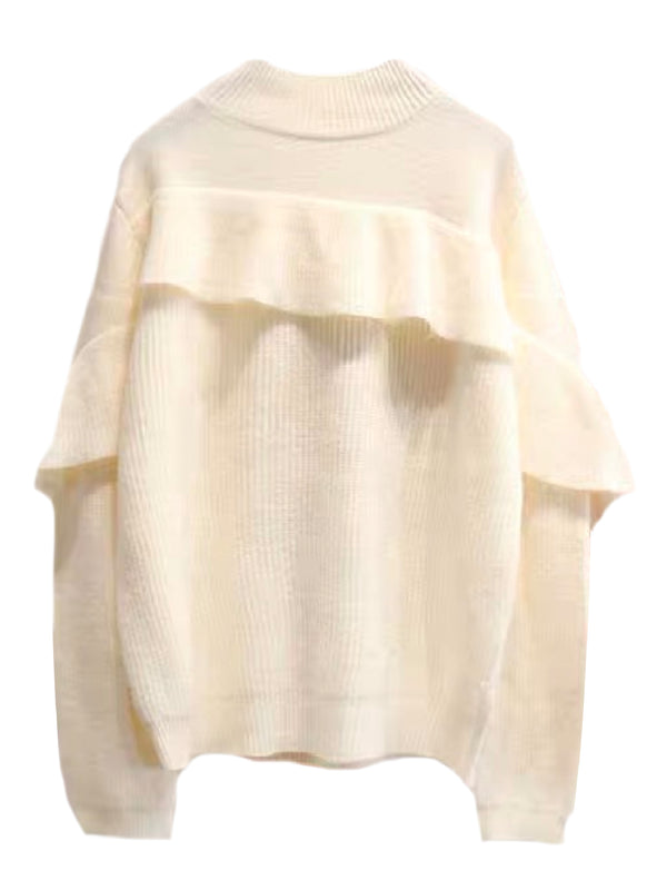 'Jodi' Ruffle Mock Neck Sweater (3 Colors)