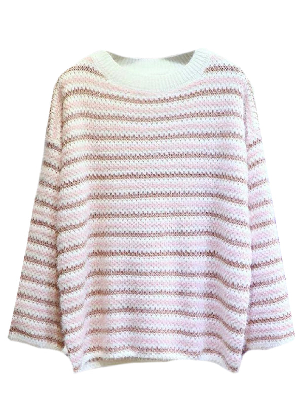 'Reece' Striped Metallic Tread Sweater (2 Colors)