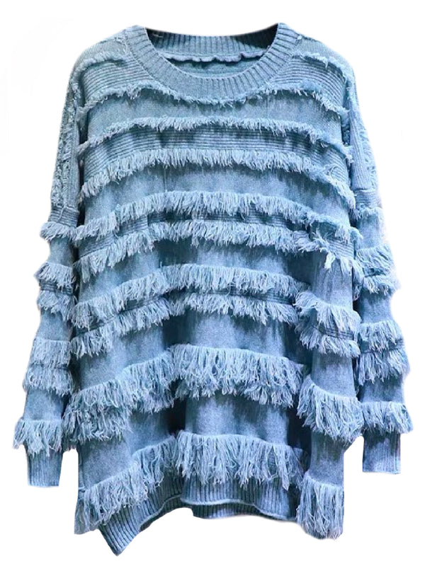 'Aurora' Fringed Sweater (4 Colors)