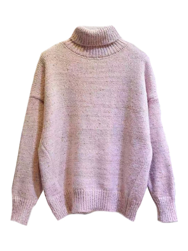 'Mikenna' Slouchy Turtleneck Sweater (4 Colors)