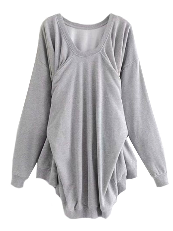'Marissa' Knotted Fake Sleeves Sweatshirt