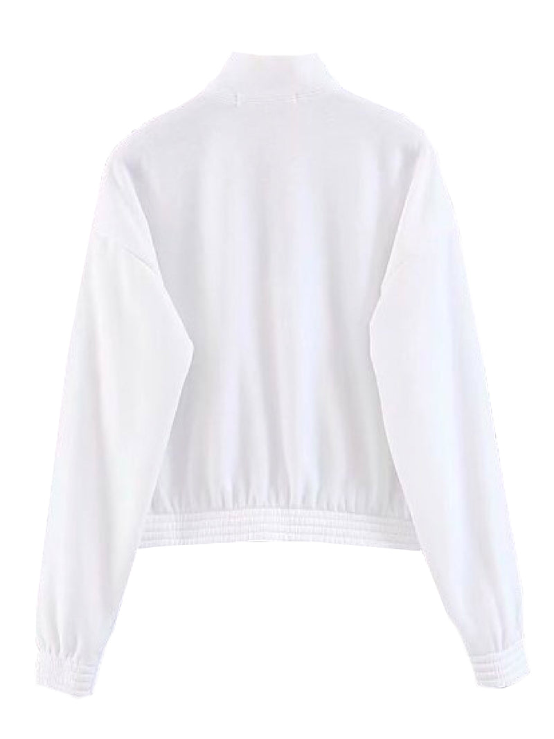 'Renée' Sporty High Neck Half-Zip Pullover