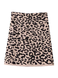 'Nima' Knitted Leopard Mini Skirt (3 Colors)