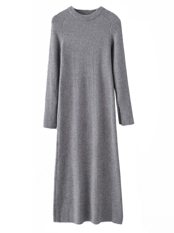 'Blake' Crewneck Knitted Maxi Dress (5 Colors)