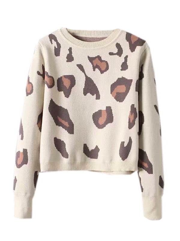 'Jet' Leopard Print Crewneck Sweater (3 Colors)