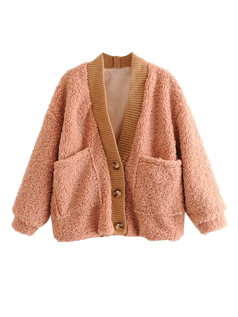'Mallory' Teddy Bear Button Down Cardigan (4 Colors)