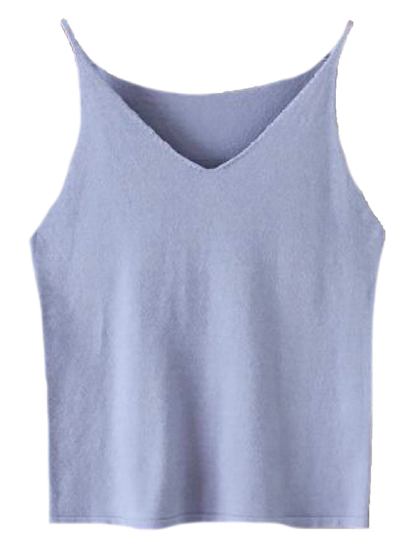 'Mayfair' Knitted V-Neck Camisole (6 Colors)