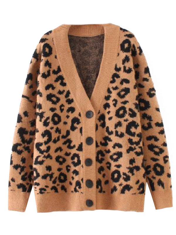 'Chelsea' Leopard Print Button Down Cardigan (2 Colors)