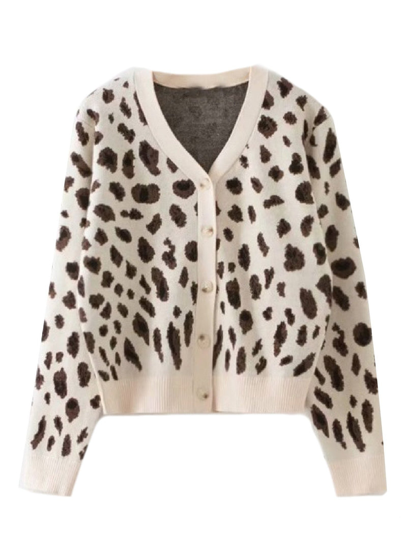 'Sage' Leopard Print Button Down Furry Cardigan (2 Colors)