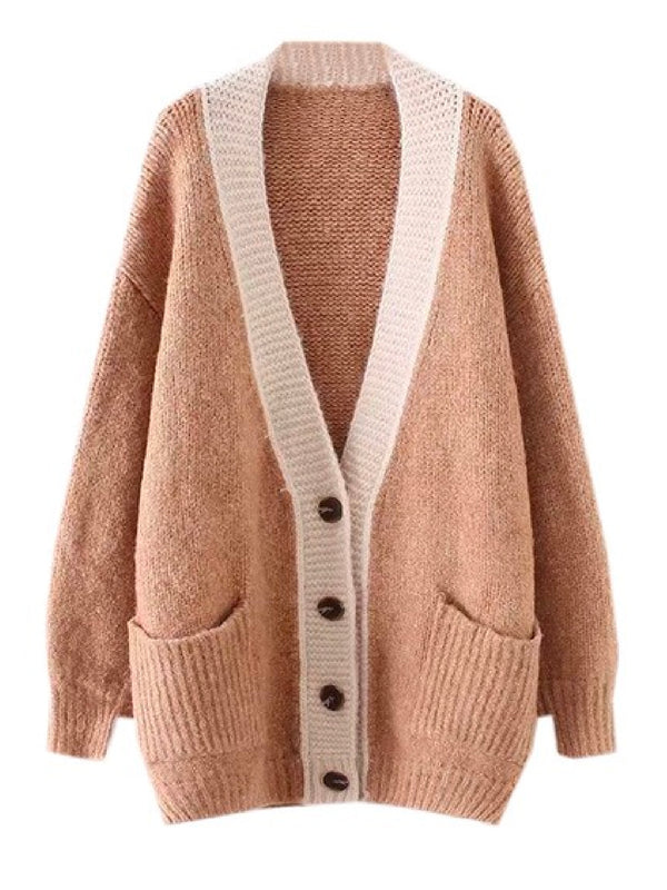 'Rabi' Oversized Knitted Button Down Cardigan