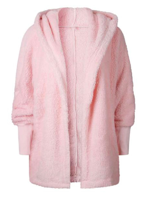 'Henrika' Hooded Furry Fleece Jacket (4 Colors)