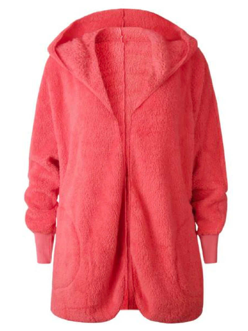 'Misen' Hooded Furry Fleece Pocket Jacket (5 Colors)