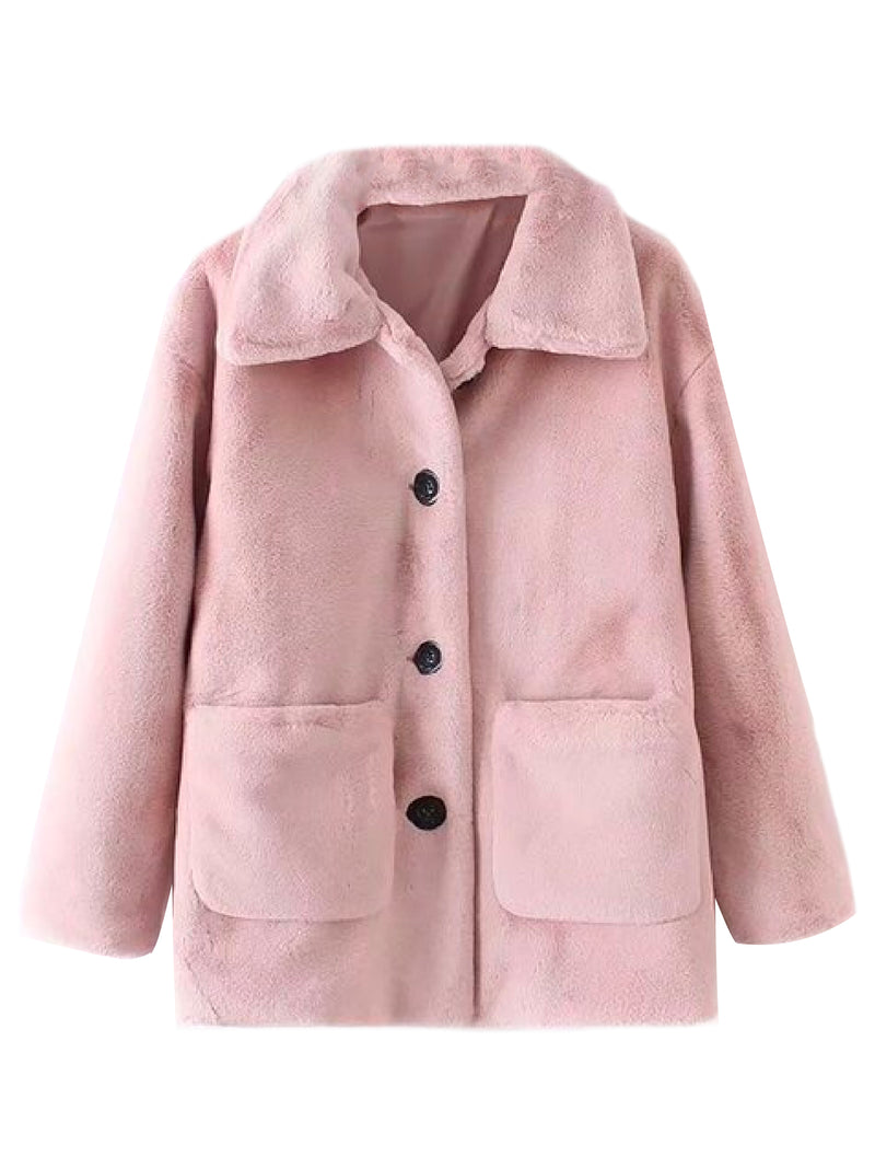 'Kimberley' Faux Mink Jacket (3 Colors)