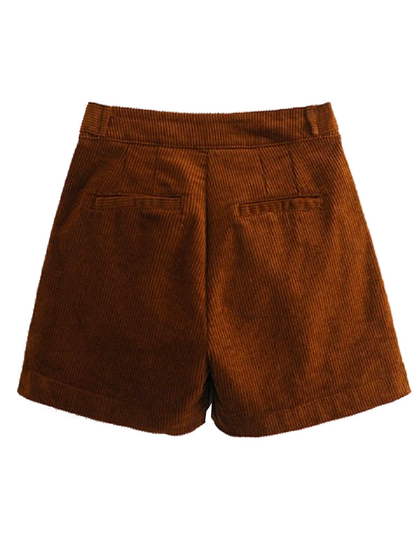 'Mandy' Corduroy Pleated Shorts