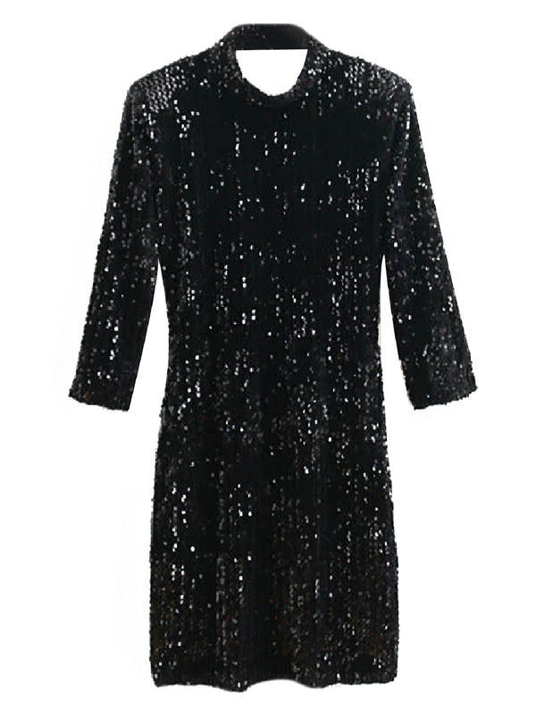 'Madelyn' Sequined Open Back Dress