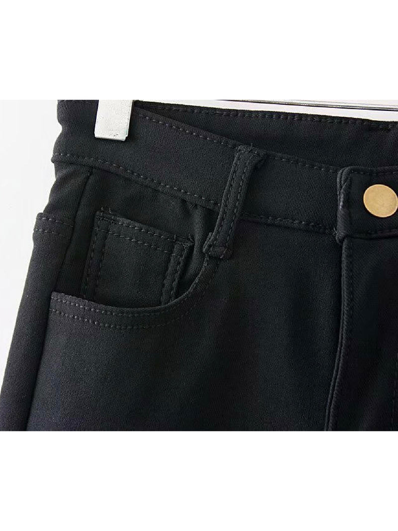 'Ren' Black Fleece Skinny Jeans
