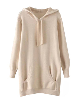 'Junip' Longline Hooded Sweater