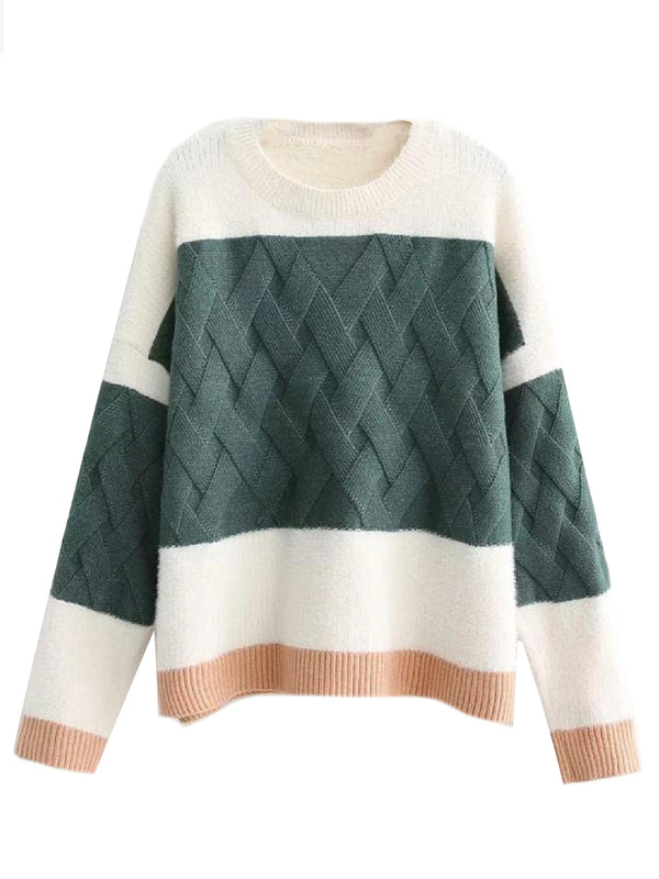 'Simone' Criss-Cross Knit Sweater (3 Colors)
