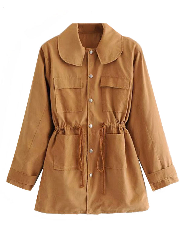 'Dorlina' Buttoned Down Utility Jacket (2 Colors)