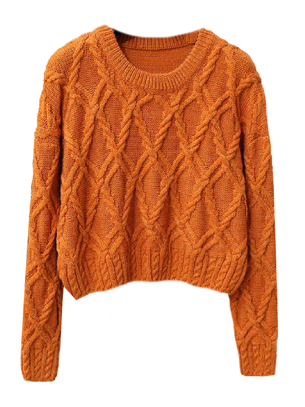 'Leilani' Braided Knit Cropped Sweater (5 Colors)