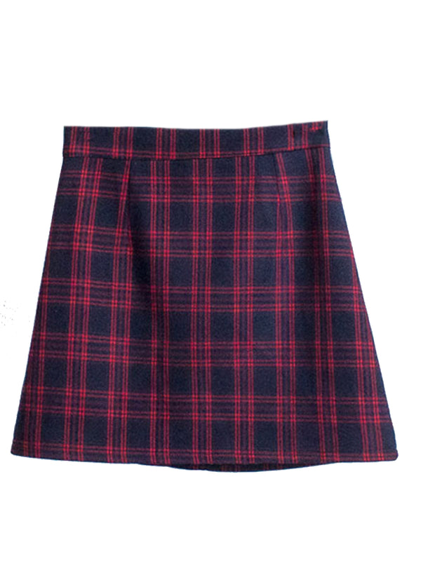 'Earlene' Plaid Mini Skirt (3 Colors)