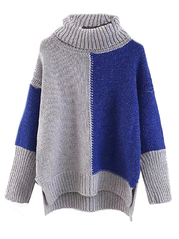 'Ross' Bicolor Roll Neck Sweater (3 Colors)