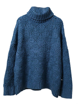 'Hins' Open Work Turtleneck Sweater (5 Colors)