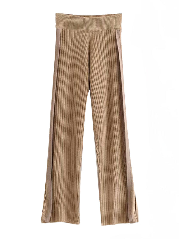 'Drew' Ribbed Knit Pants