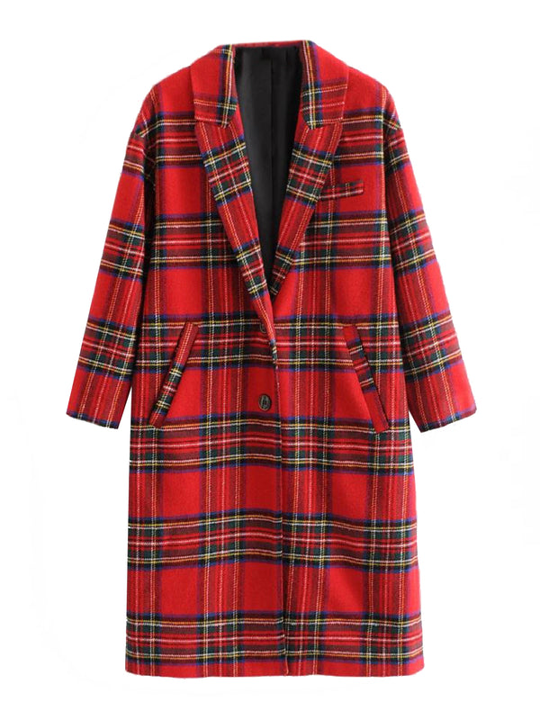 'Saeed' English Plaid Lapels Coat