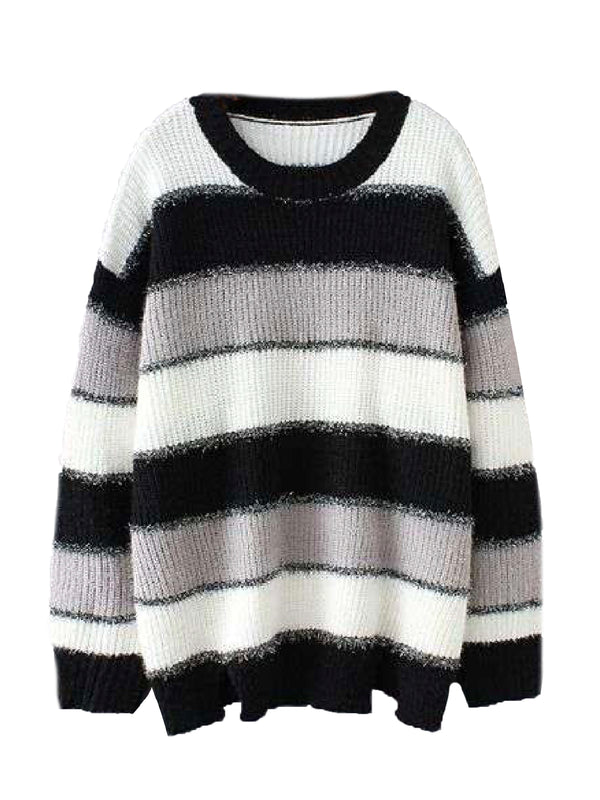 'Orva' Color Block Metallic Thread Sweater
