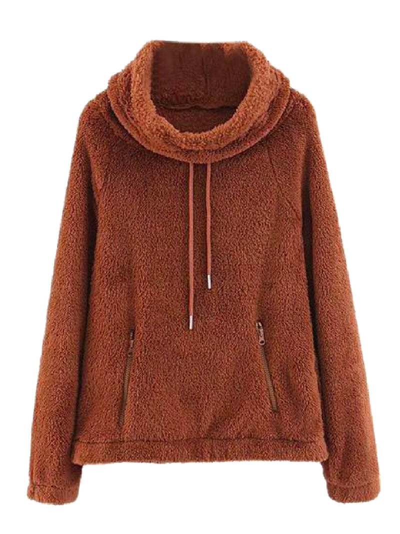'Honbria' High Neck Fleece Pullover