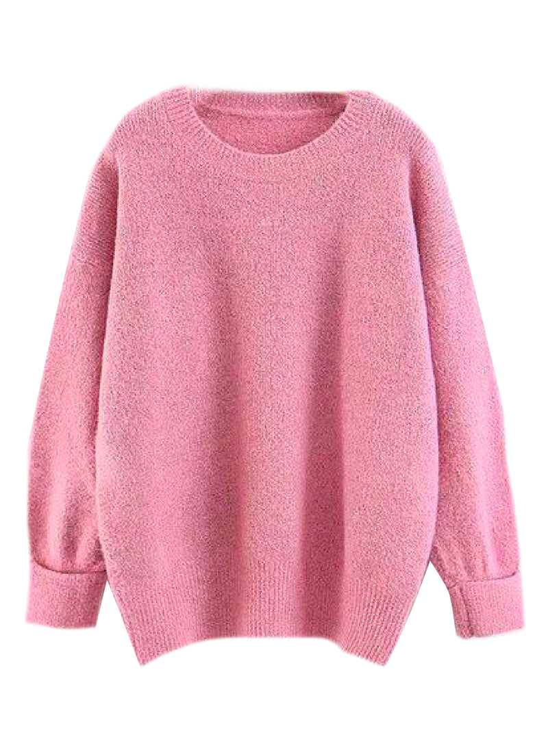 'Mae' Rolled Cuff Crewneck Sweater (5 Colors)