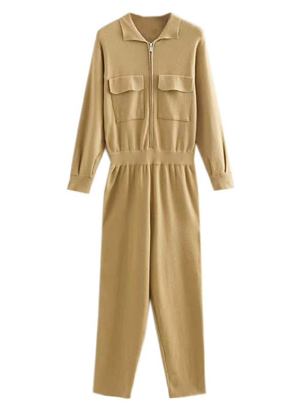 'Harmony' Utility Knitted Jumpsuit