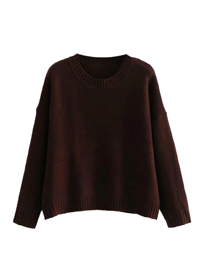 'Moira' Crewneck Knitted Sweater (2 Colors)