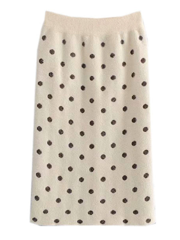 'Jonquil' Polka Dot Midi Skirt (2 Colors)